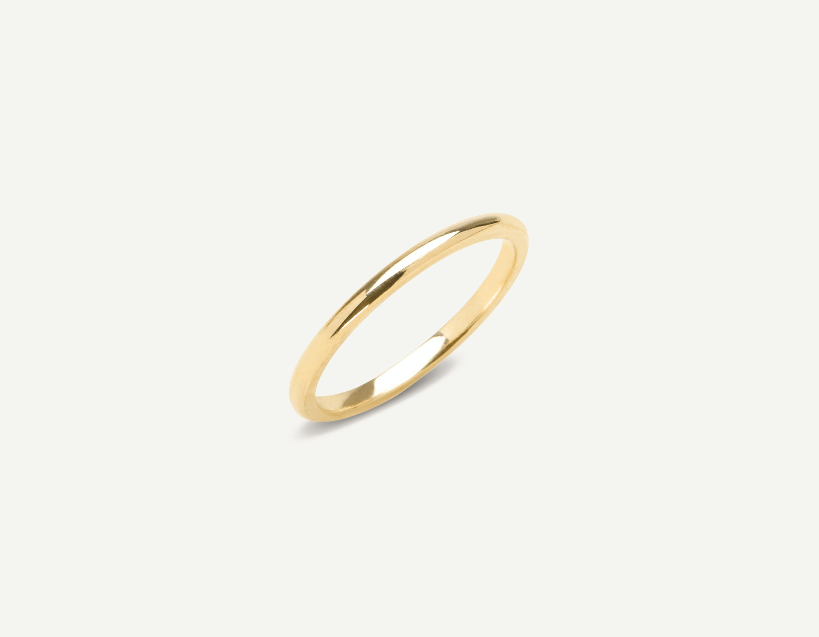 18k Gold Wedding Band In 1 5mm Round By Vrai Oro