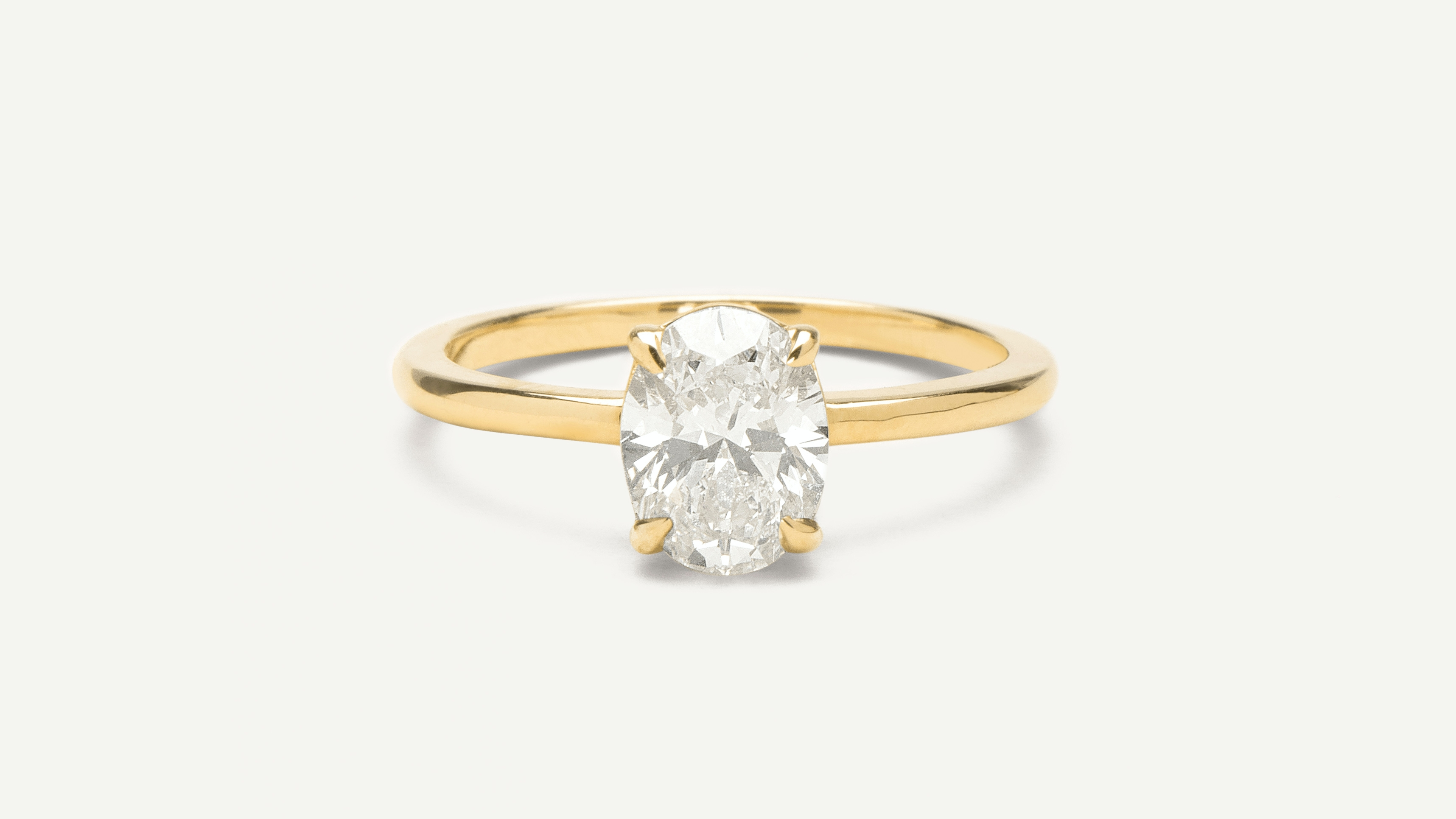 75960311fbb Oval Engagement Ring by Vrai   Oro