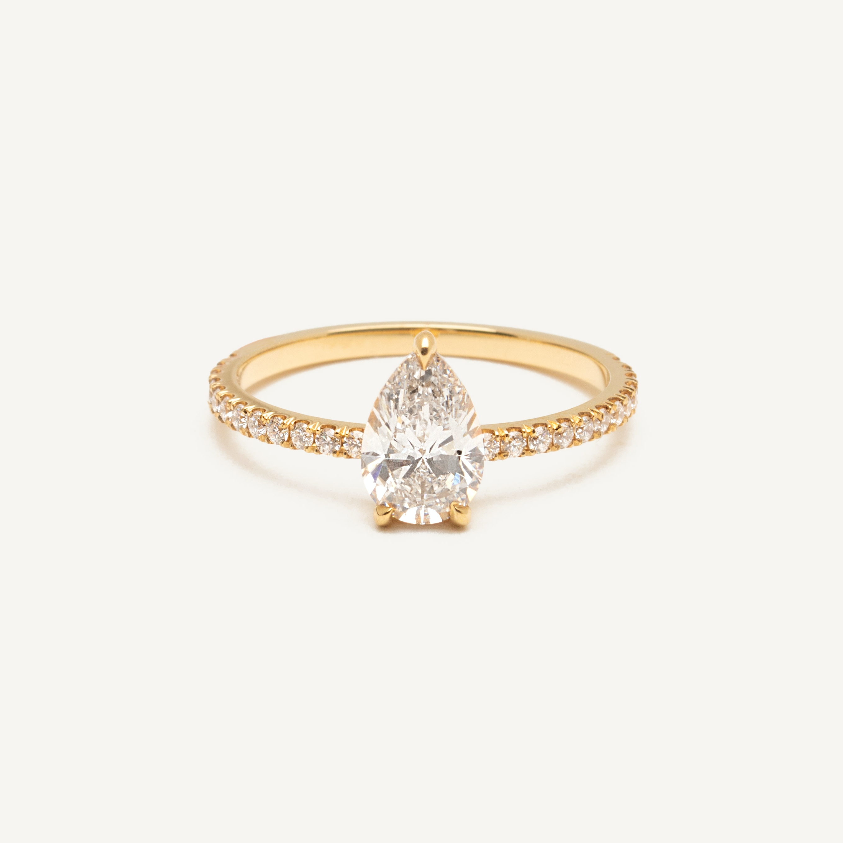 af99eeaa6 Pear Pavé Diamond Engagement Ring by Vrai & Oro