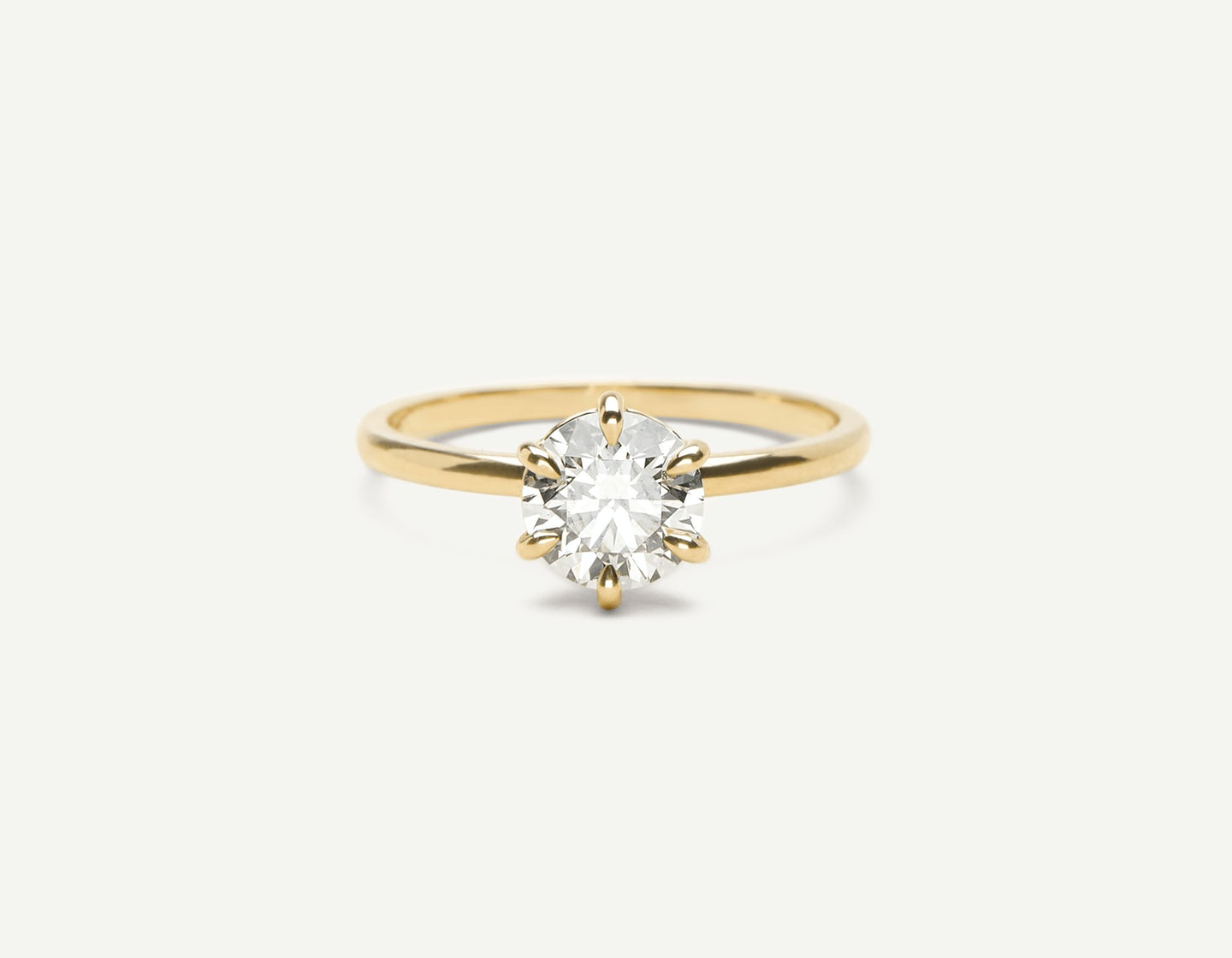 768439832 Solitaire Diamond Engagement Ring by Vrai & Oro